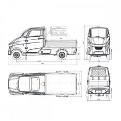 Ηλεκτρικό Επαγγελματικό Φορτηγάκι J2-T130 pickup Eride