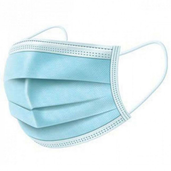 Προστατευτική μάσκα μίας χρήσης υποαλλεργική 3 στρώσεων από ελαφρύ υλικό