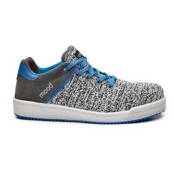 Παπούτσια εργασίας MOOD S1P SRC No43 Ασπρόμαυρο/Γαλάζιο, BASE