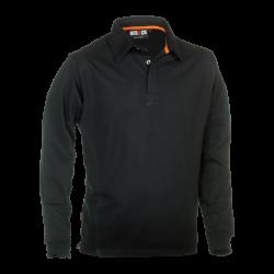 Troja Polo Long Sleeves BLACK XXL