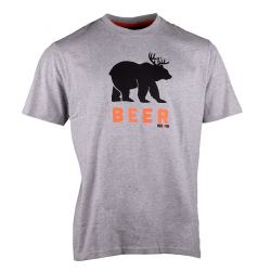 Beer T-shirt short sleeves LIGHT HEATHER GREY M