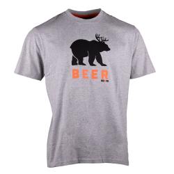 Beer T-shirt short sleeves LIGHT HEATHER GREY XXL