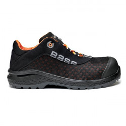 Υφασμάτινα παπούτσια εργασίας BE-FIT S1P SRC Νο46 μαύρο/πορτοκαλί, BASE